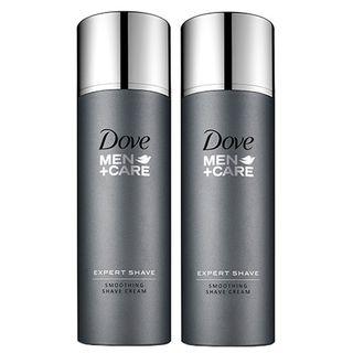 Dove Men Care Expert Shave - Smoothing Shave Cream - Kit de Creme para Barbear 2x 150ml - COD. 027502