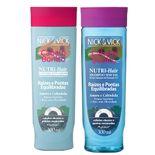 Nutri-Hair Raízes e Pontas Equilibradas Nick & Vick - Kit Shampoo 300ml + Condicionador 300ml