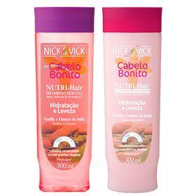 Nutri-Hair Hidratação e Limpeza Nick & Vick - Kit Shampoo 300ml + Condicionador 300ml