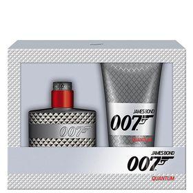 007-Quantum-Eau-de-Toilette-James-Bond---Kit-Perfume-Masculino-50ml---Gel-de-Banho-150ml