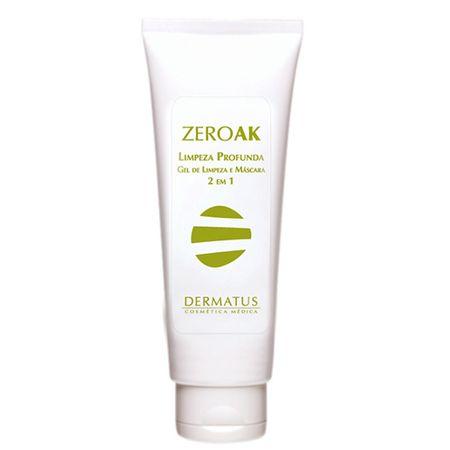 ZeroAK Limpeza Profunda 2 em 1 Dermatus - Gel de Limpeza e Máscara Fácial - 120g