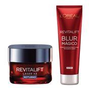kit-revitalift-blur-magico-revitalift-laser-x3-noturno-loreal-paris-aperfeicoador-da-pele-rejuvenescedor-facial