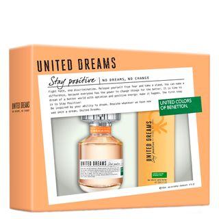 United Dreams Stay Positive Benetton - Feminino - Eau de Toilette - Perfume + Desodorante - Kit 20170214A 9371