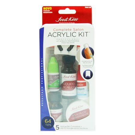 Complete Salon Acrylic Kit First Kiss - Kit para Aplicação de Unhas Acrílicas -...