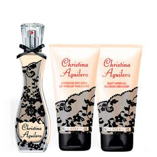Signature Christina Aguilera - Feminino - Eau de Parfum - Perfume + Gel de Banho + Loção Corporal - Kit 20160214A 9618