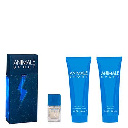 Resultado de imagem para Animale Sport Edt 100ml + Miniatura 7,5ml + Bálsamo Pós Barba 90ml + Gel de Banho 90ml