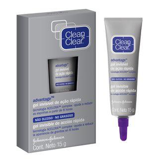 Advantage Gel Antiacne de Ação Rápida Clean & Clear - Tratamento para Acne 15g - COD. 029971