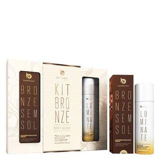 kit-bronze-best-glow-autobronzeador-spray-100ml-iluminador-luminate-100g-kit