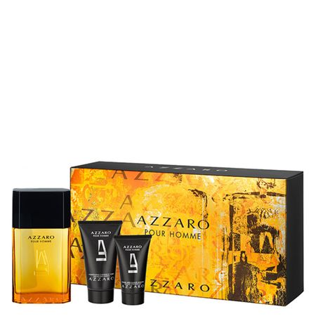 Azzaro Pour Homme Azzaro - Masculino - Eau de Toilette - Perfume + Pós barba +...