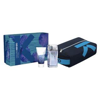 l eau par kenzo pour homme eau de toilette kenzo kit de perfume masculino 50ml gel de banho 50ml necessaire kit