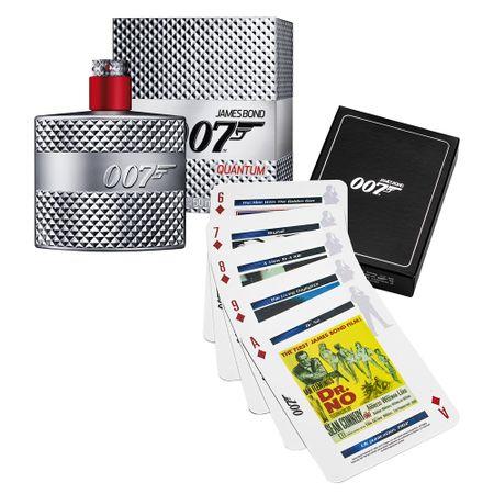 007 Quantum James Bond - Masculino - Eau de Toilette - Perfume + Jogo de Cartas...