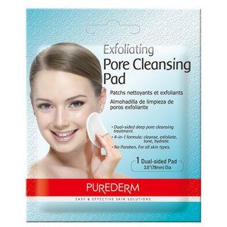 exfoliating-pore-cleansig-pad-purederm-lenco-exfoliante-para-limpeza-profunda
