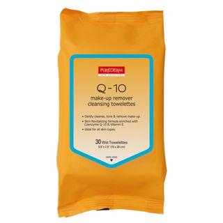 q-10-make-up-remover-cleansing-towelettes-purederm-lenco-demaquilante-30-unidades