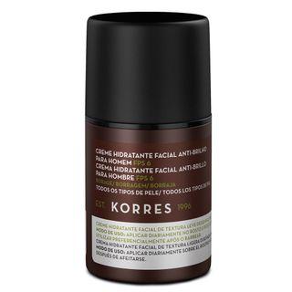 Borragem FPS 6 Korres - Creme Hidratante Facial Anti - Brilho para Homem 45g - COD. 036068