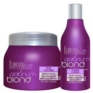 Kit Shampoo + Máscara Matizadora Forever Liss Professional Platinum Blond 20170220A 14232