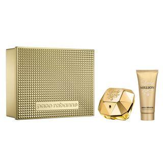Lady Million Paco Rabanne - Feminino - Eau de Parfum - Perfume + Loção Corporal - Kit 20160214A 795