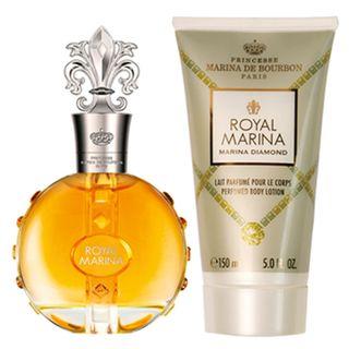Royal Marina Diamond Marina de Bourbon - Feminino - Eau de Parfum - Perfume + Loção Corporal - Kit 20160214A 14486