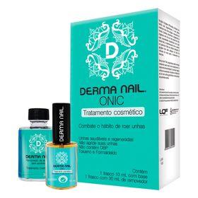 Derma-Nail-Onic-Gengibre-Dermaphyto---Base-De-Tratamento-Para-Inibir-O-Ato-De-Roer-As-Unhas