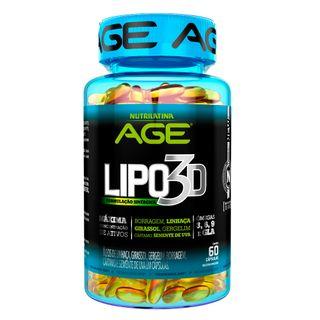 Lipo 3D Age Nutrilatina - Suplemento Redutor de Peso - 60 Cápsulas 20170321 23180