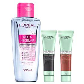 loreal-paris-argila-pura-detox-ganhe-agua-micelar-kit-mascara-facial-iluminadora-mascara-facial-esfoliante