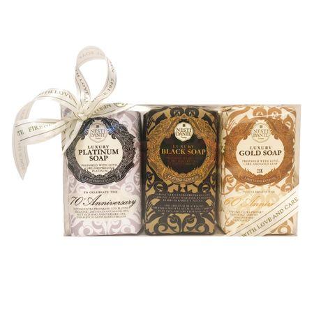 Nesti Dante Luxury Gold Platinum Black Kit - Sabonetes em Barra - Kit