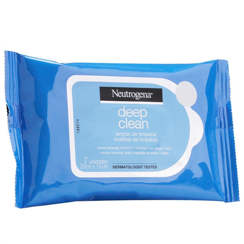 Lenço Demaquilante Neutrogena Deep Clean - 7 lenços