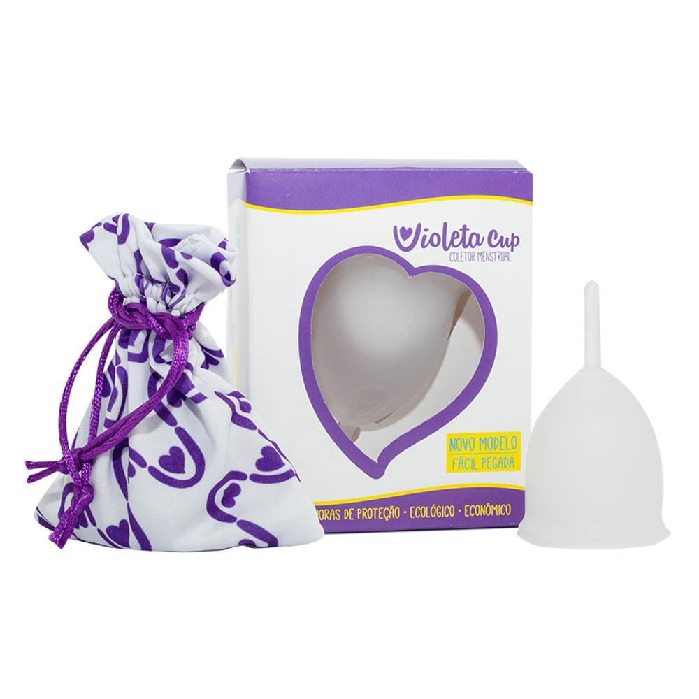 Coletor Menstrual Violeta Cup - Transparente Tipo B