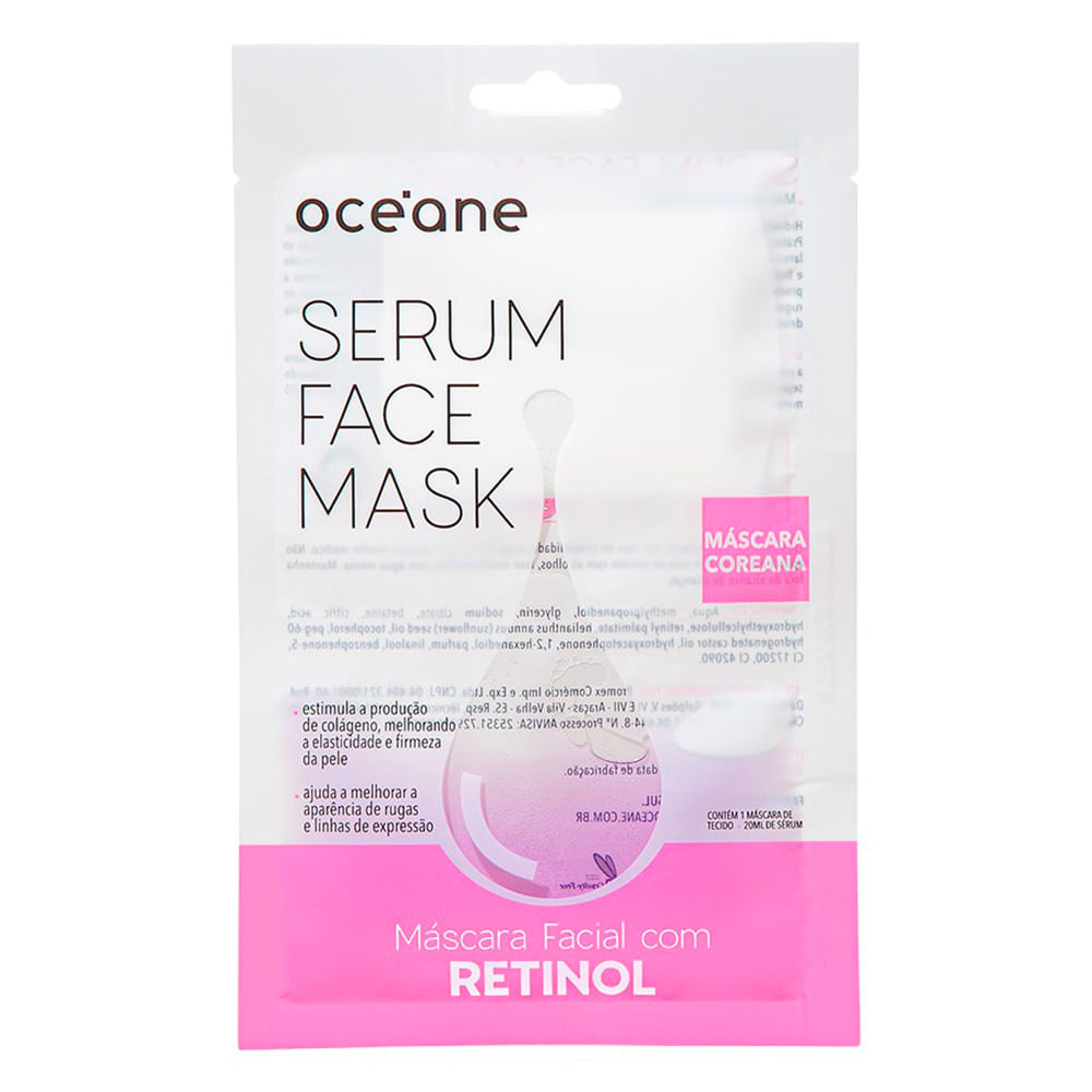 Máscara Facial Océane - Serum Face Mask Retinol - 1 Un