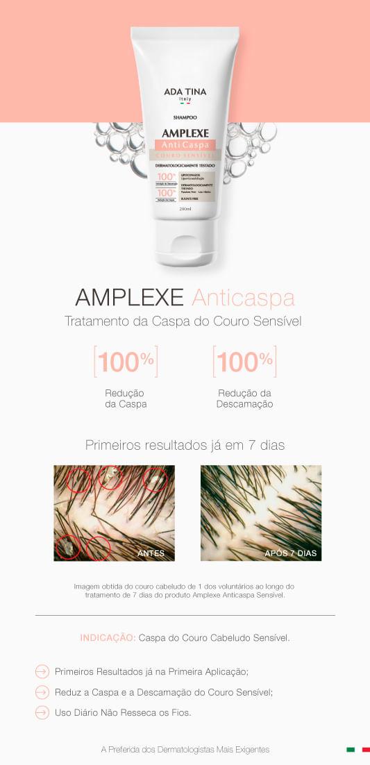 Shampoo Ada Tina Amplexe Anticaspa Couro Sensível