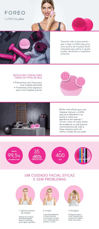 Luna Play Plus Foreo - Escova de Limpeza Facial