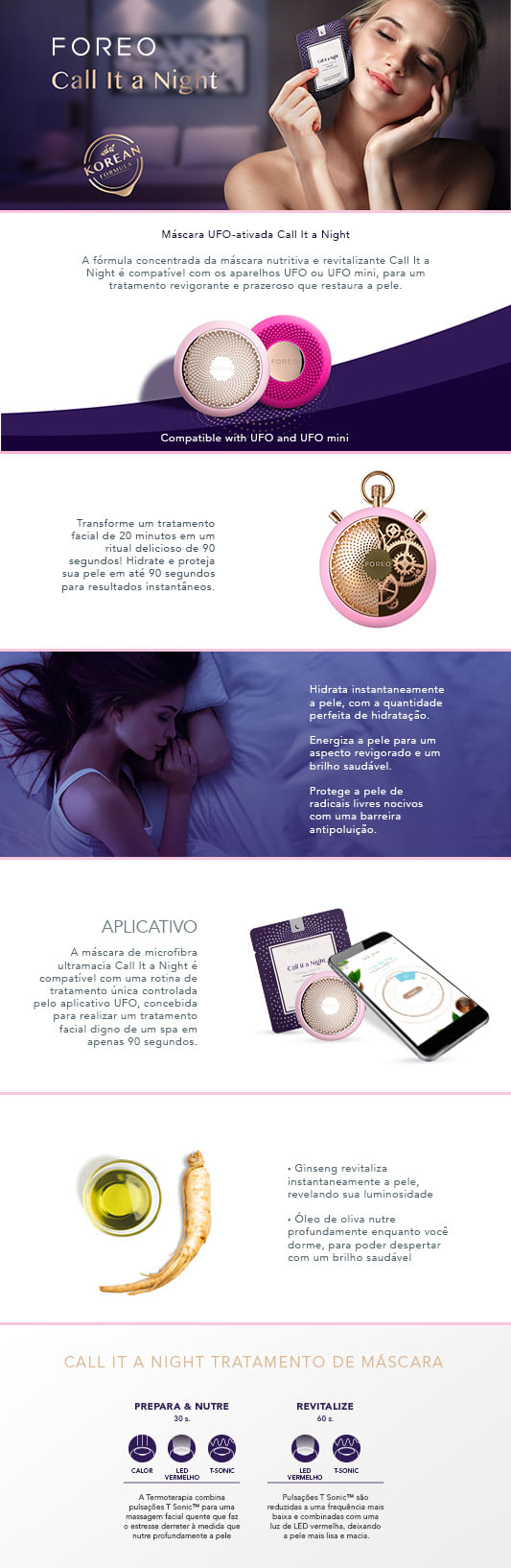 Máscara Facial Foreo - UFO Call It a Night