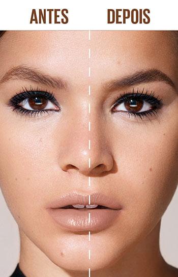 Mascara de Sobrancelhas Brow Drama - Antes e Depois