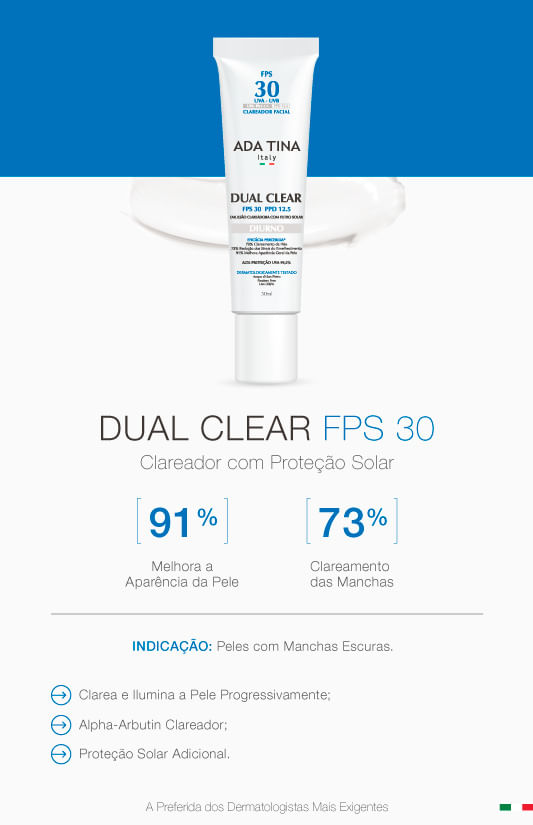 Dual Clear Ada Tina - Clareador Facial