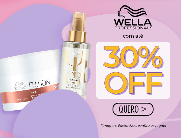 Wella com super descontos!