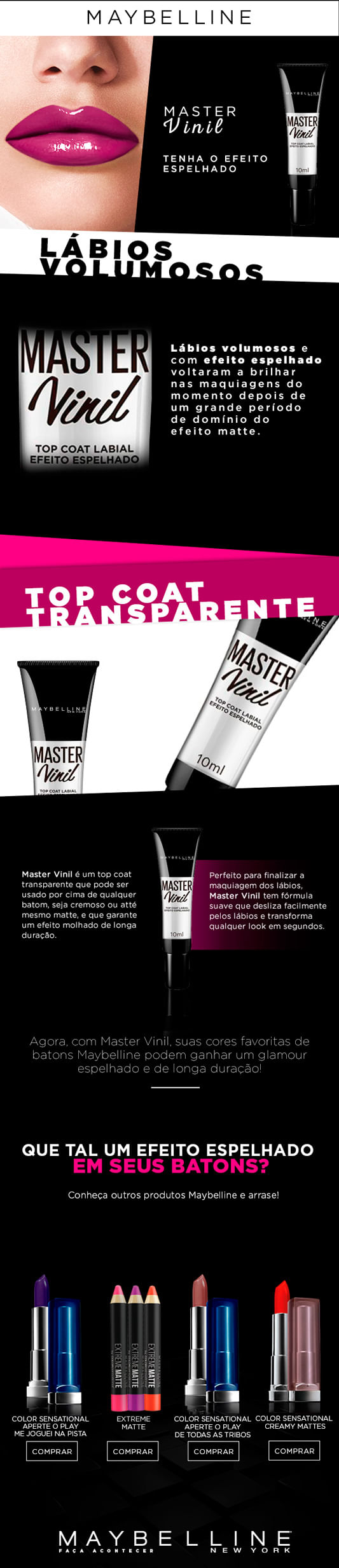 Gloss Maybelline Master Vinil Top Coat