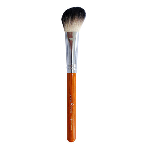 Pincel Chanfrado para Blush e Contorno Brown 3 Facial Klass Vough - Pincel Profissional Chanfrado para Blush -