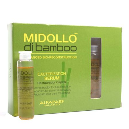 Alfaparf Cauterization Serum Midollo di Bamboo - Tratamento Reconstrutor - 6x...