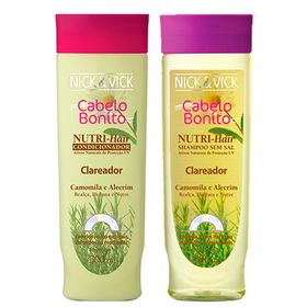 Nutri-Hair Clareador Nick & Vick - Kit Shampoo 300ml + Condicionador 300ml