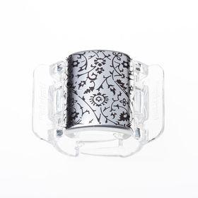 core-linziclip-prendedor-para-os-cabelos-core-silver-metallic-floral