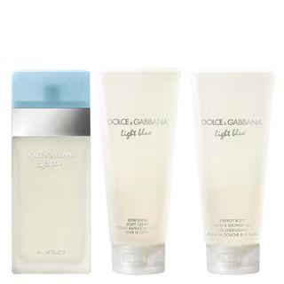 Light Blue Eau de Toilette Dolce & Gabbana - Kit Perfume Feminino 100ml + Loção Corporal 100ml + Gel de Banho 100ml Kit - COD. 028887