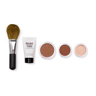 Get Started Fairly Light bareMinerals - Kit Miniaturas Prime Time + Pó Facial Finalizador + Pó Tonalizante + Base Mineral + Pincel Fairly Light - COD. 028914