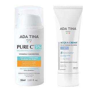 Pure C + Acqua Crema Corpo Ada Tina - Kit Rejuvenescedor Facial 30ml + Água Termal em Creme 200ml Kit - COD. 030054