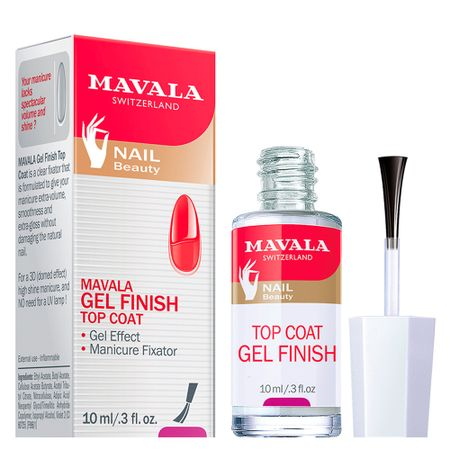 Gel Finish Top Coat Mavala - Cobertura Fixadora - 10ml