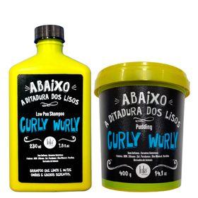 curly-wurly-lola-cosmetics-kit-shampoo-low-poo-230ml-creme-para-pentear-400g