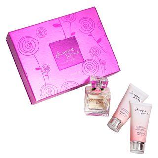 Mirage World Eau de Parfum Vivinevo - Kit Perfume Feminino 100ml + Sabonete Esfoliante 90ml + Loção Hidratante Corporal 90ml Kit - COD. 030307