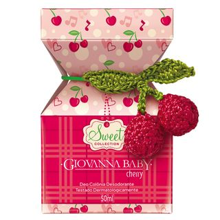 Sweet Collection Cherry Deo Colônia Giovanna Baby - Perfume 50ml - COD. 030906