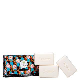 Sabonete Puro Vegetal Chá Branco e Gengibre Orgânica - Sabonete em Barra 3x 90g - COD. 031008