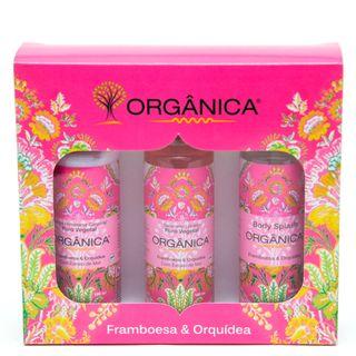 Framboesa & Orquídea Orgânica - Kit Loção Hidratante 100ml + Sabonete Líquido 100ml + Body Splash 100ml Kit - COD. 031014