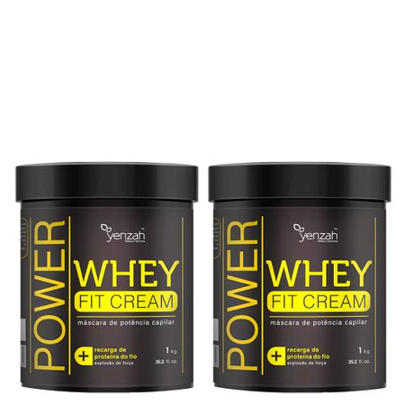 Yenzah Power Whey Fit Cream - Máscara de Reconstrução - Kit - nenhuma