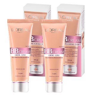 BB Cream 5 em 1 SPF20 50ml L ´ Oréal Paris - Kit Base Clara 2 Unidades - COD. 031335